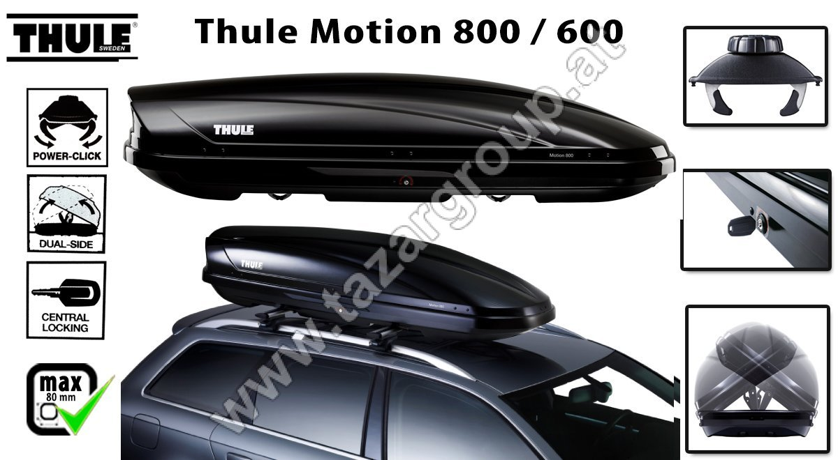 Dachbox Thule Motion 600 Black Autodachtraeger At